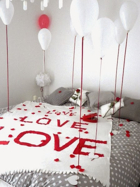 Tu fais quoi maman une chambre romantique pour la st valentin - Deco chambre saint valentin ...