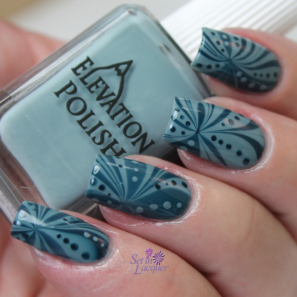 Water marble nail art using Elevation Polish