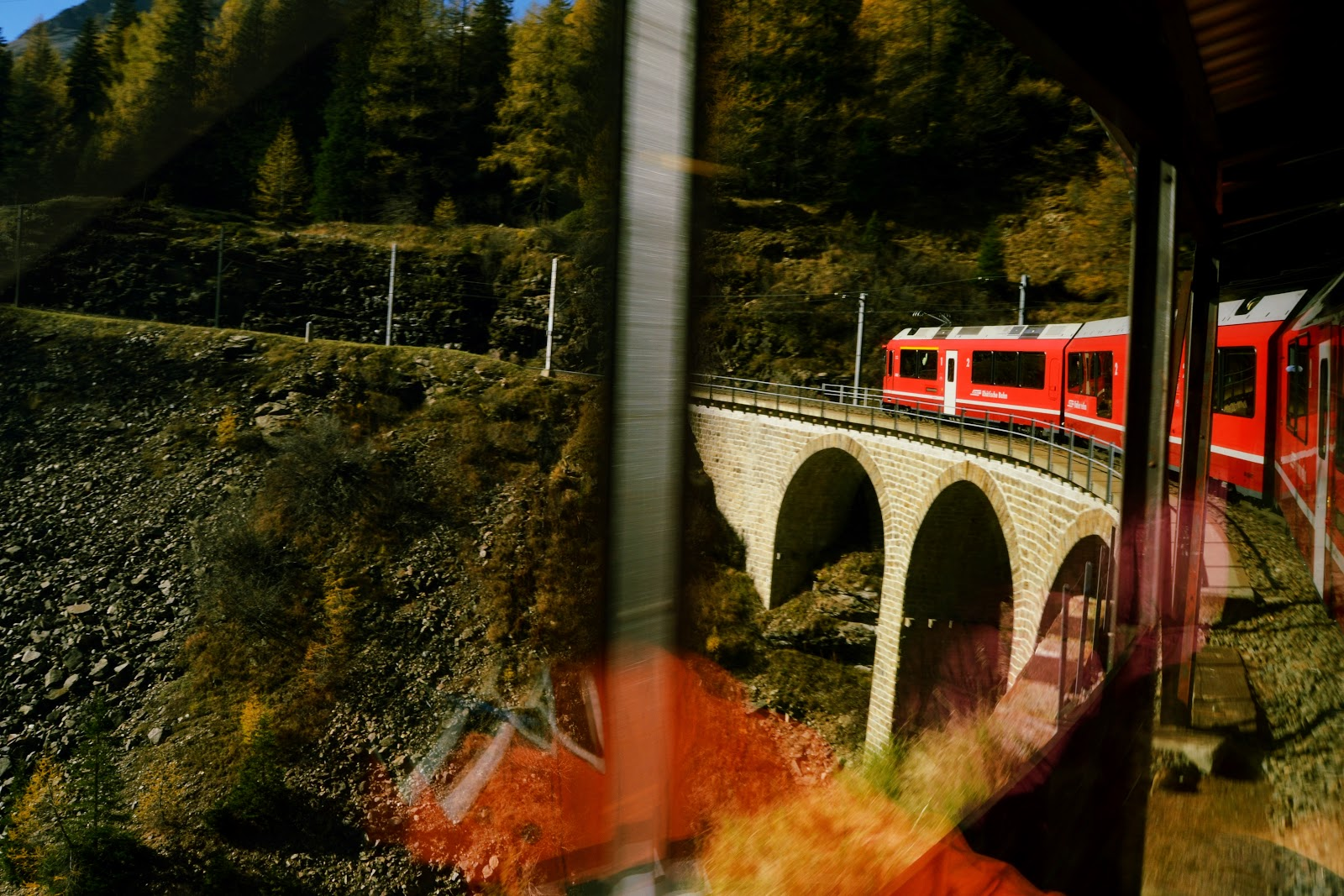 Bernina Express on the Bridge