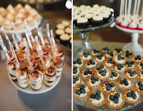 Minnesota Barn Wedding Dessert Shooters and Tartlets