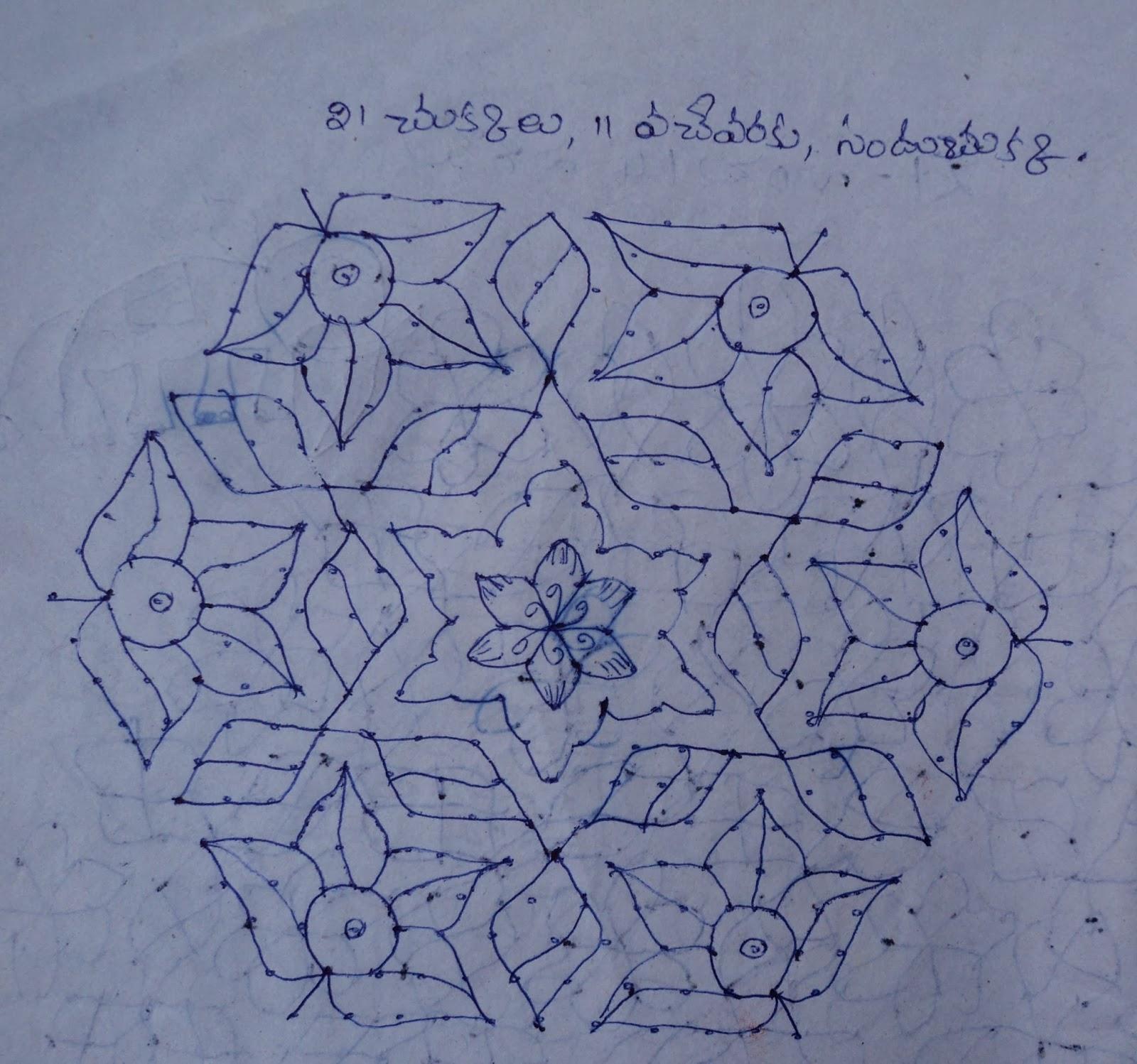... Suspended. Muggulu Designs With Dots Latest Sankranthi Muggulu