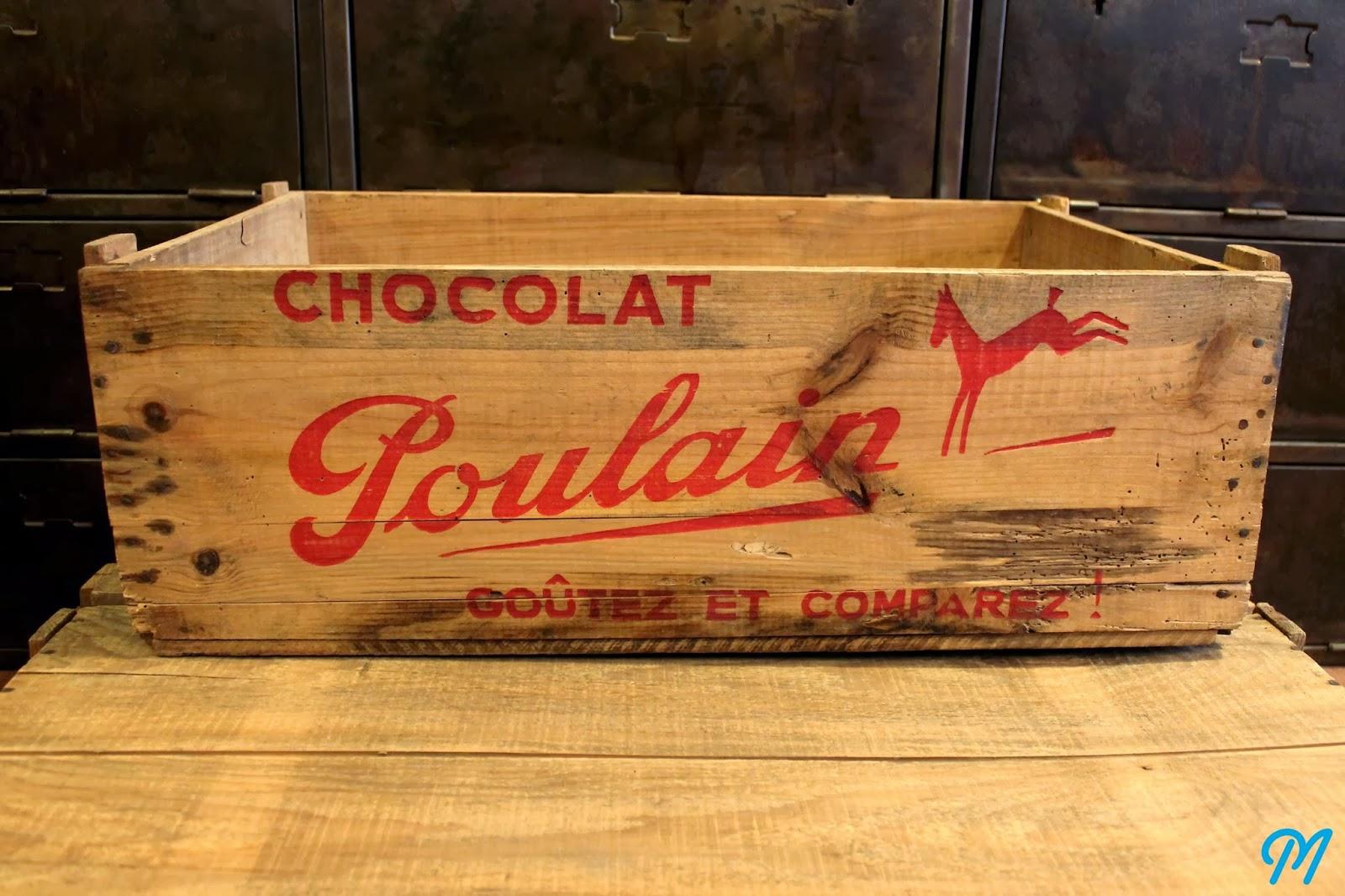 Caisse En Bois Ancienne : Arrivage de caisses en bois publicitaires Marinette Vintage Blog