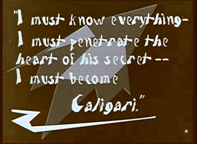 Intertitle from The Cabinet of Dr. Caligari
