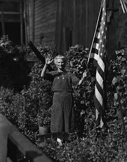 Prize-Winning gardener in the Hill District, 1928, Pittsburgh
