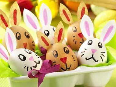 Великденски яйца зайчета