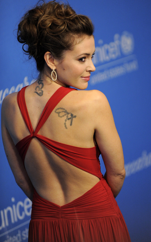 Alyssa Milano Tattoos and Meanings | Reading A Word