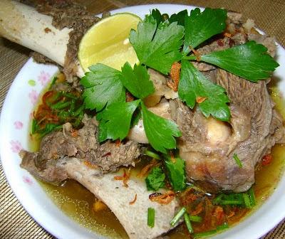 cara masak sup tulang ala thai