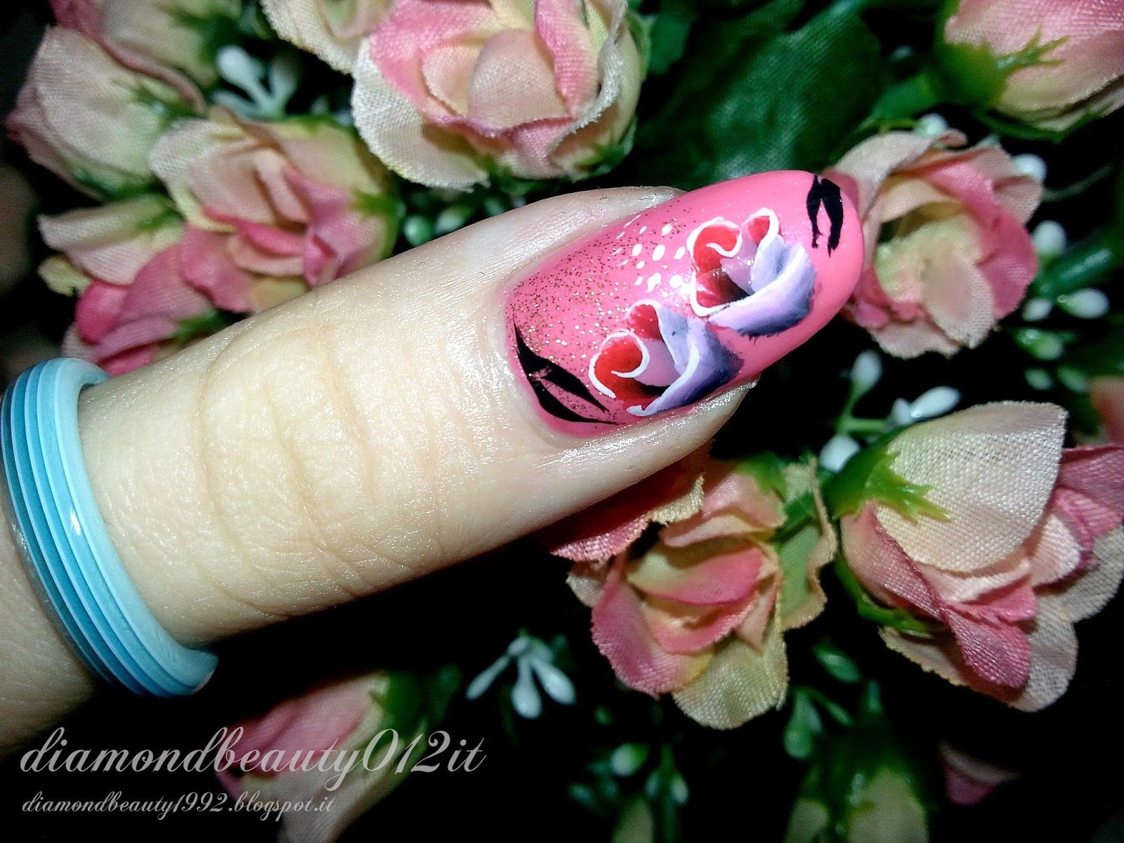 rosa corallo primavera nails