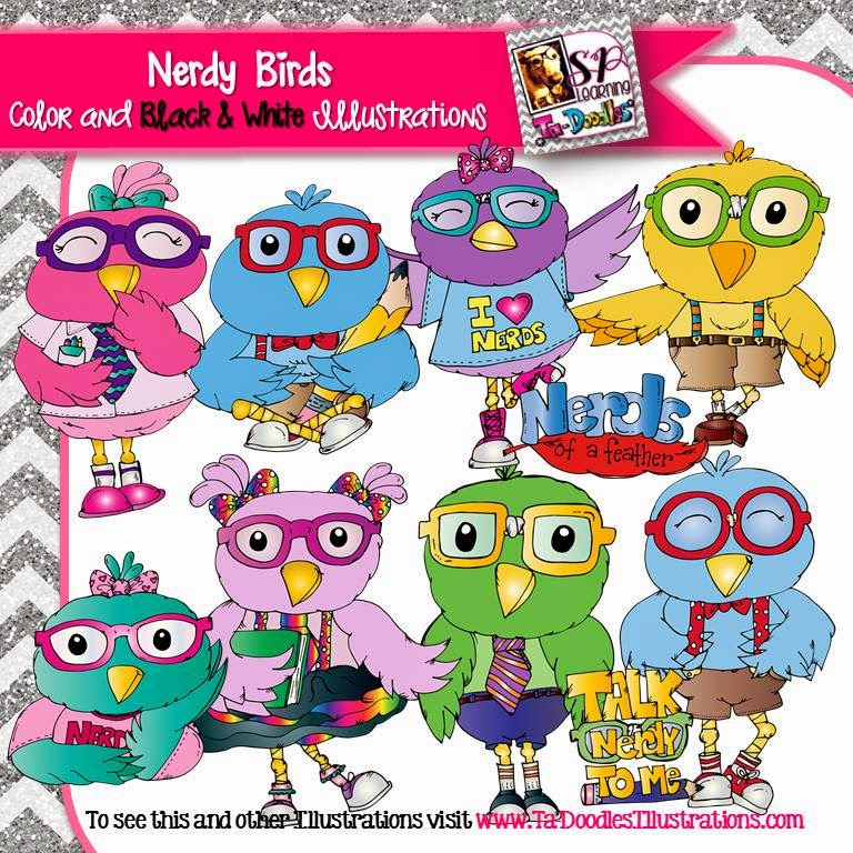 http://www.teacherspayteachers.com/Product/Birds-Dressed-as-Nerds-clip-art-1655705