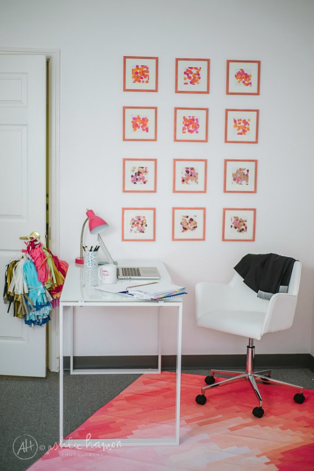 A Confetti-Filled Office Design!    The Flair Exchange Office