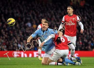 Arsenal VS City BPL 2013