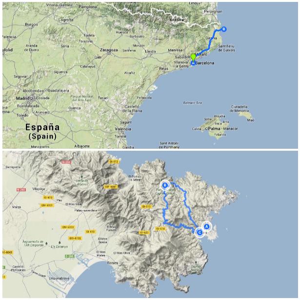 Foto del Mapa ruta Costa Brava