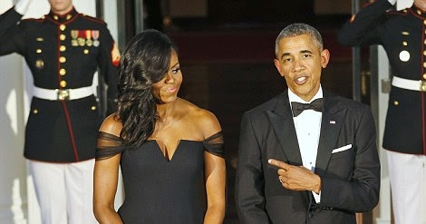 Obama stuns at the state dinner thrown for the chinese president