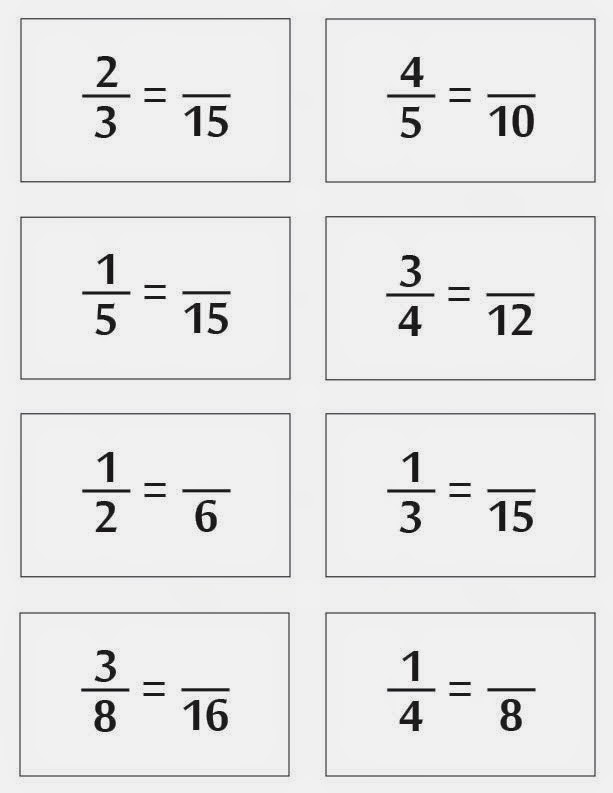 Relentlessly Fun Deceptively Educational Equivalent Fractions – Matching Equivalent Fractions Worksheet