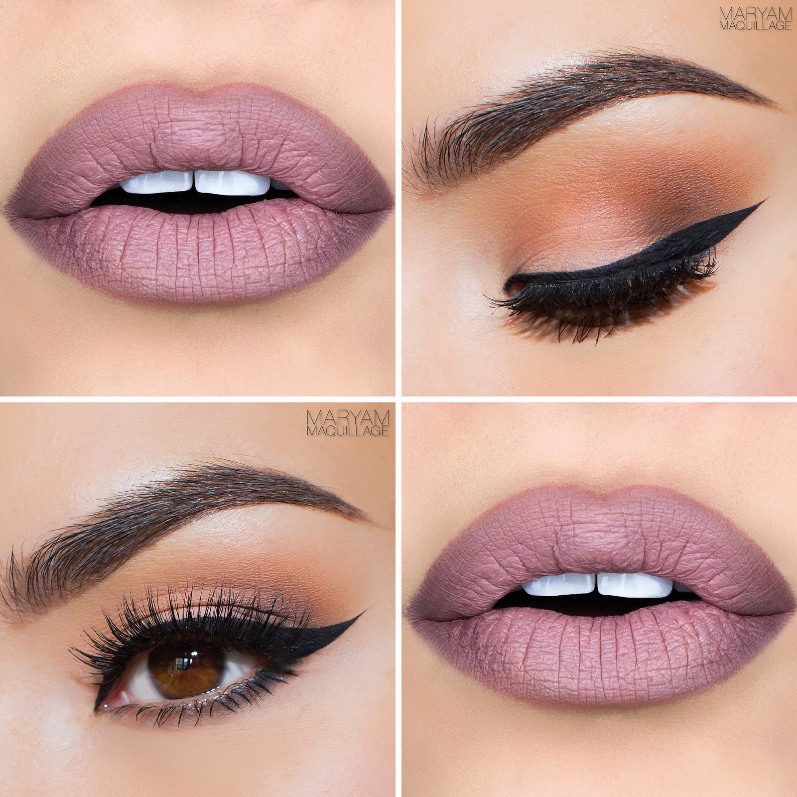 """Cool Nude Ombré & Cat Eye • Makeup Geek Eyeshadows • Peach Smoothie • Beaches & Cream • Flutter Lashes """"Emily"""" lashes"""