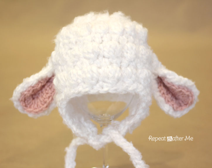 Crochet Pattern For Baby Lamb Hat : Crochet Lamb Hat Pattern - Repeat Crafter Me