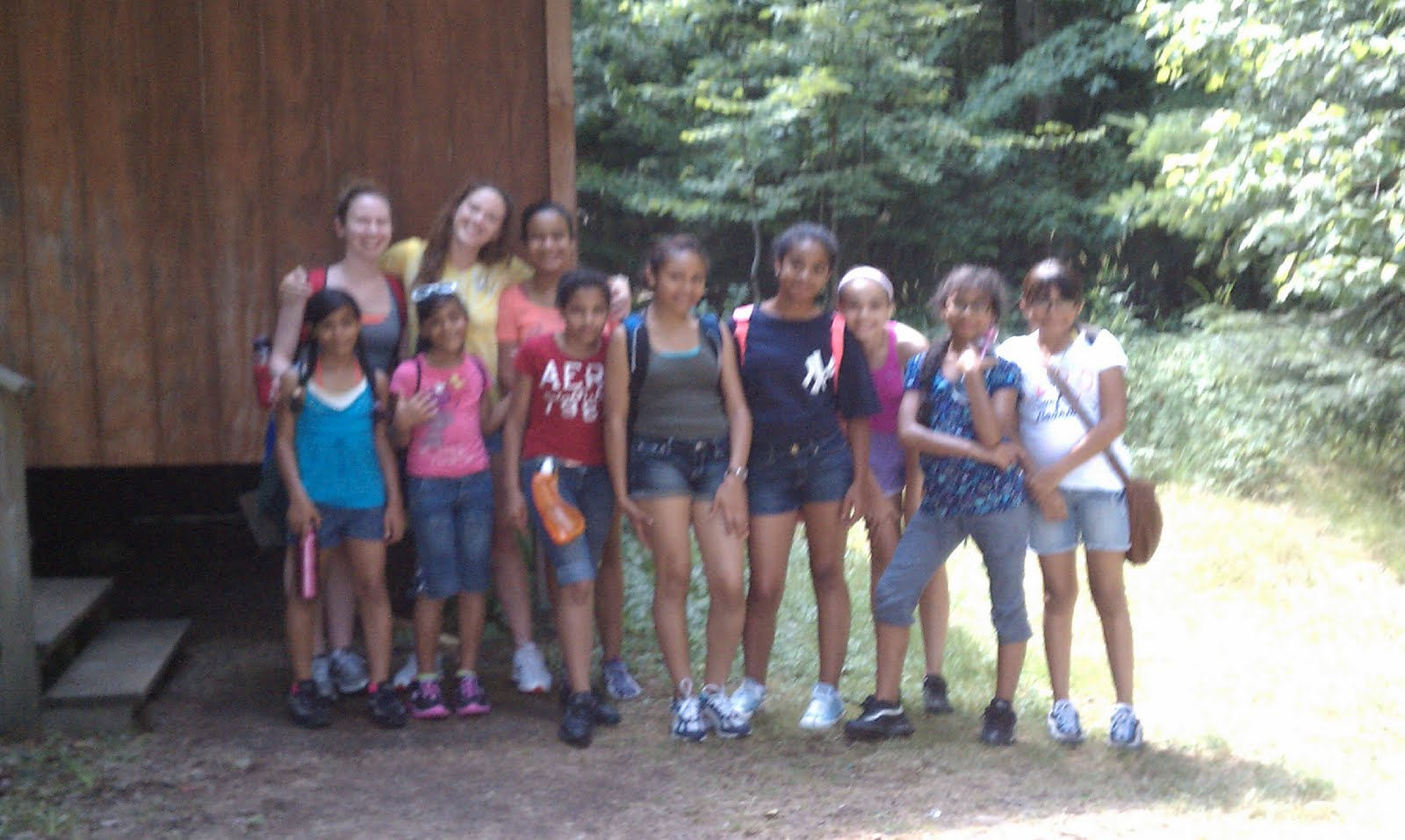 St ignatius girls camp 2012 cabin 2 hike for The girl in the cabin