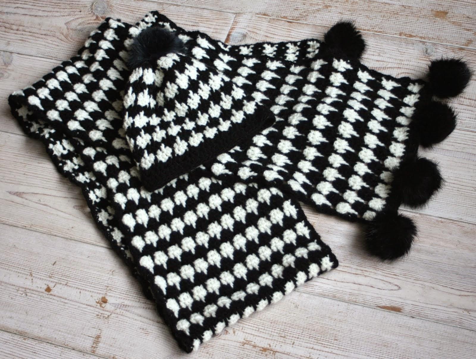 Pied-de-poule stijl sjaal