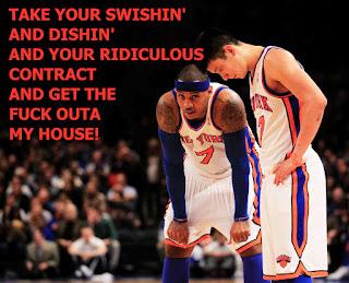 Carmelo Anthony and Jeremy Lin, funny