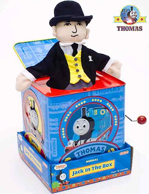 Schylling Thomas the tank engine Sir Topham Hatt Jack in the box tin preschool childrens toy puppet