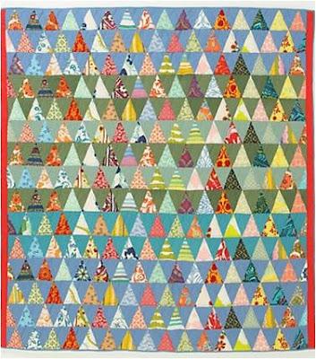 Quilt Inspiration: Free pattern day: Thousand Pyramids
