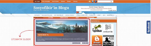 otomatik slider, Blogger otomatik slider, blogger eklentileri