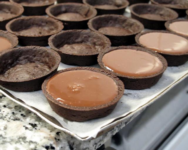 Yann Couvreur, Hôtel Le Burgundy - Fonds de tartelettes au chocolat