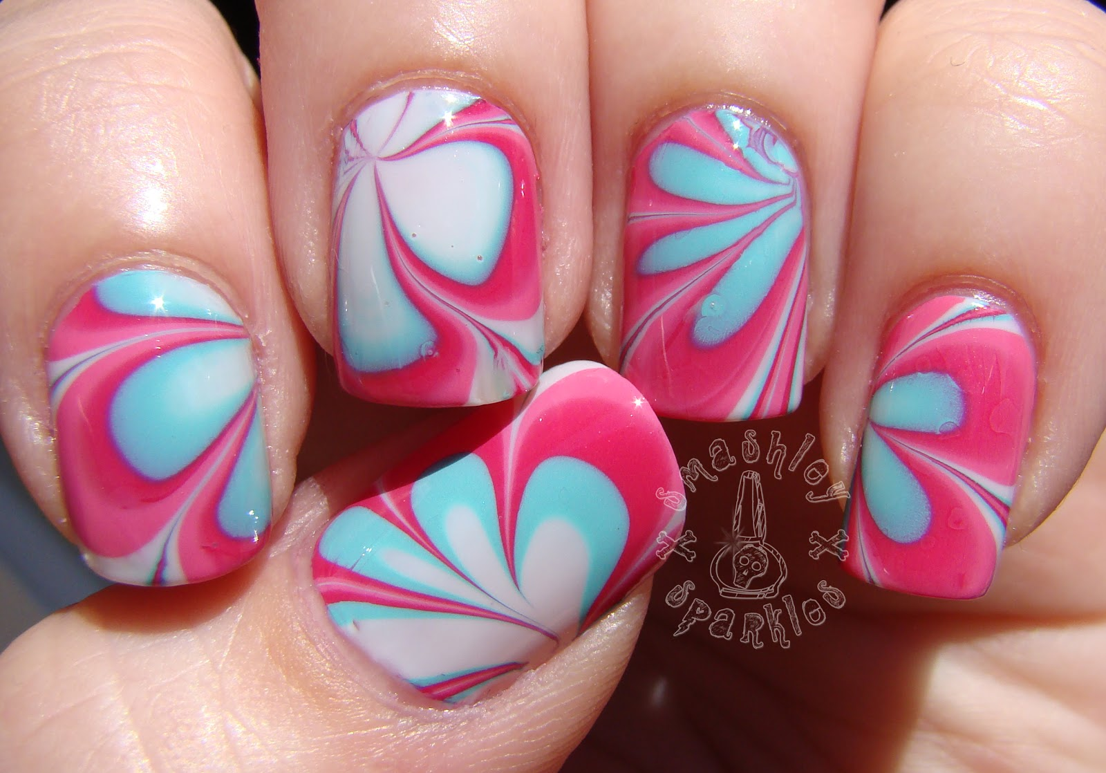 Without Water Marble Nail Polish Designs Topsimages