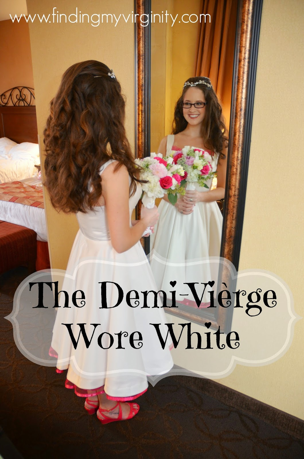 Why I wore a short white satin dress on my wedding day