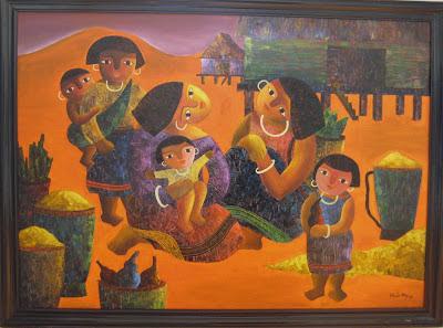 Tác phẩm hội họa về đề tài Tây nguyên 1
