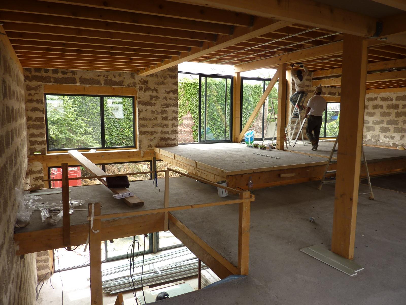 Suite chantier maison bois bioclimatique architecte maison bois paris a - Maison bioclimatique alsace ...