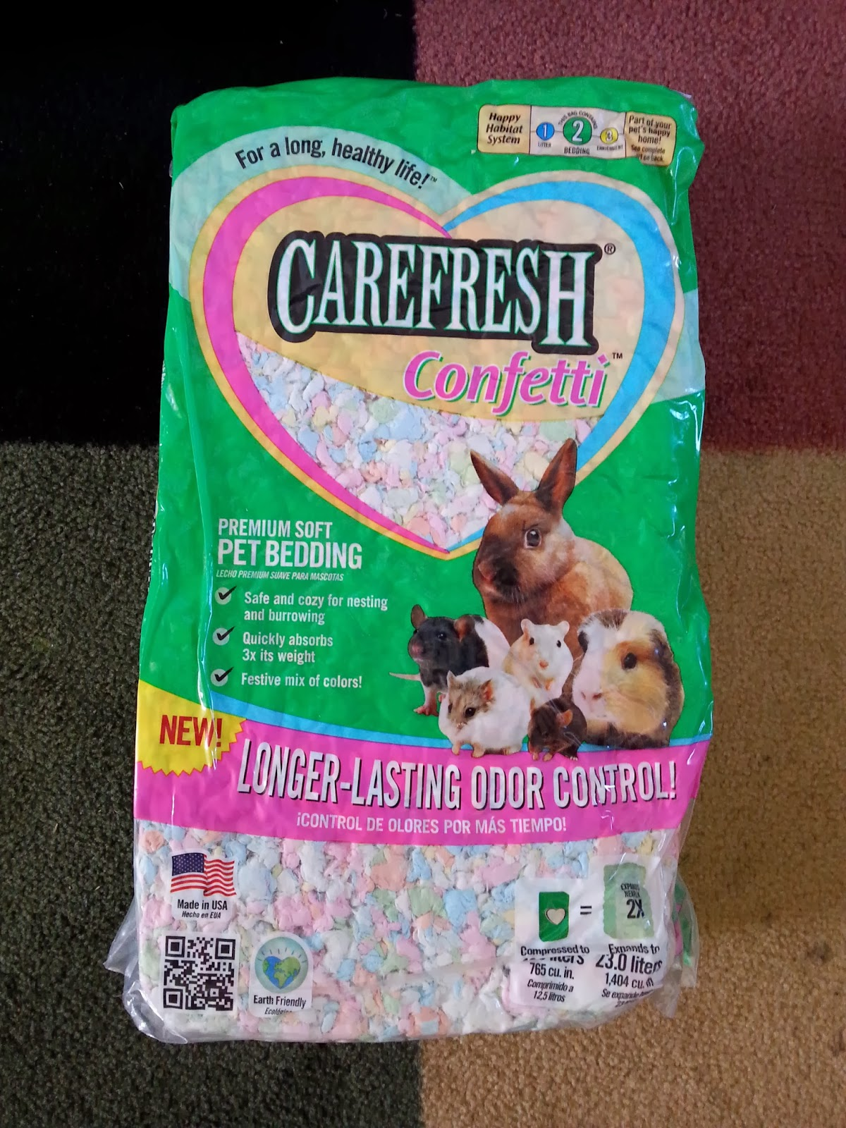 Cavy Savvy A Guinea Pig Blog Product Review Carefresh Confetti