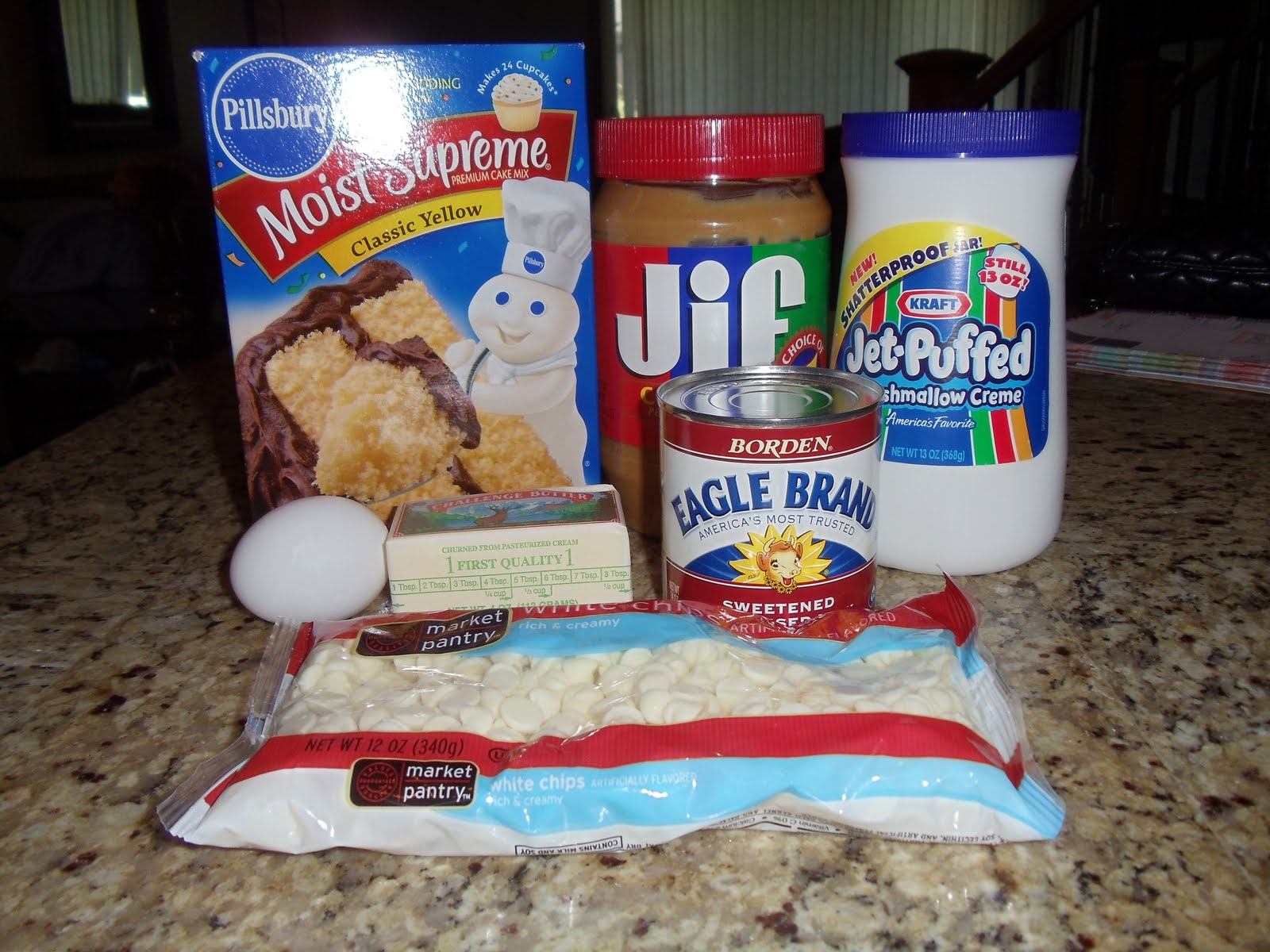 ... Kitchen Diary: Gooey White Chocolate Fluffernutter Cake Bars