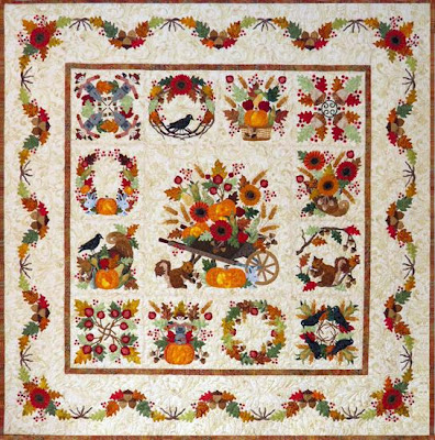 Baltimore Autumn Quilt by Pearl P Pereira of P3 Designs