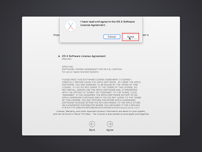Terms and Conditions OS X El Capitan