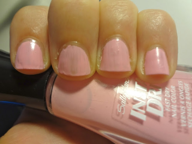 first coat of Pink Blink by Sally Hansen
