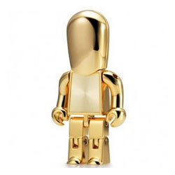 gold robot usb