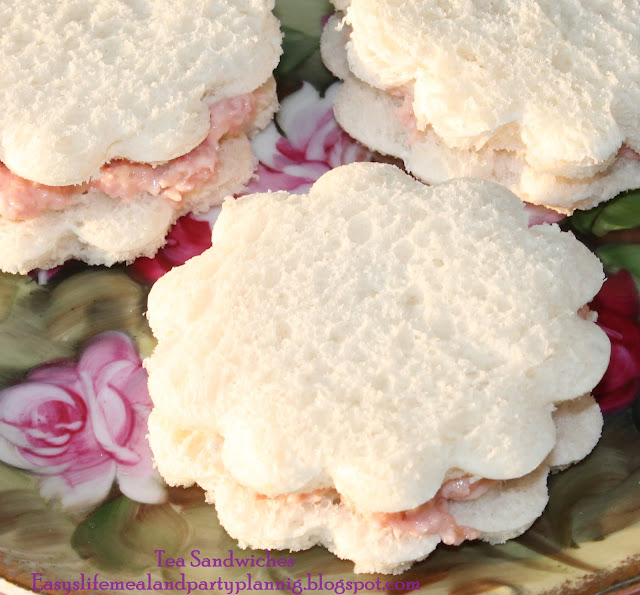 Flower Tea Sandwiches for Baby Shower - Easy Life Meal & Party Planning