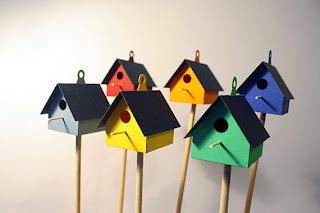 bahçe, balkon, Birdhouse, kuş, kuş ev