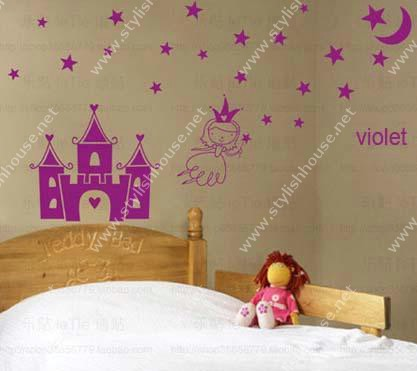 Princess Castle stickers for bedroom walls