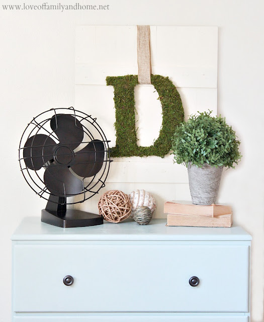 Antique Fan Makeover with Spray Paint