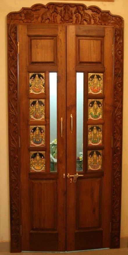 latest pooja room door designs 2013 wood design ideas