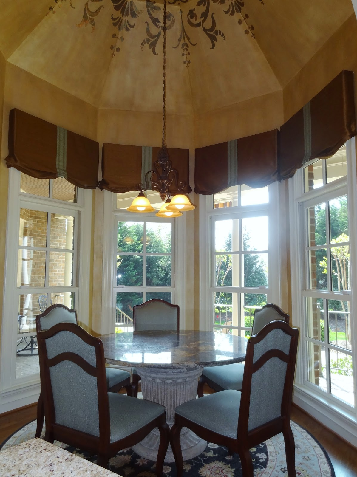 Greensboro interior design window treatments greensboro - Kitchen bay window treatments ...