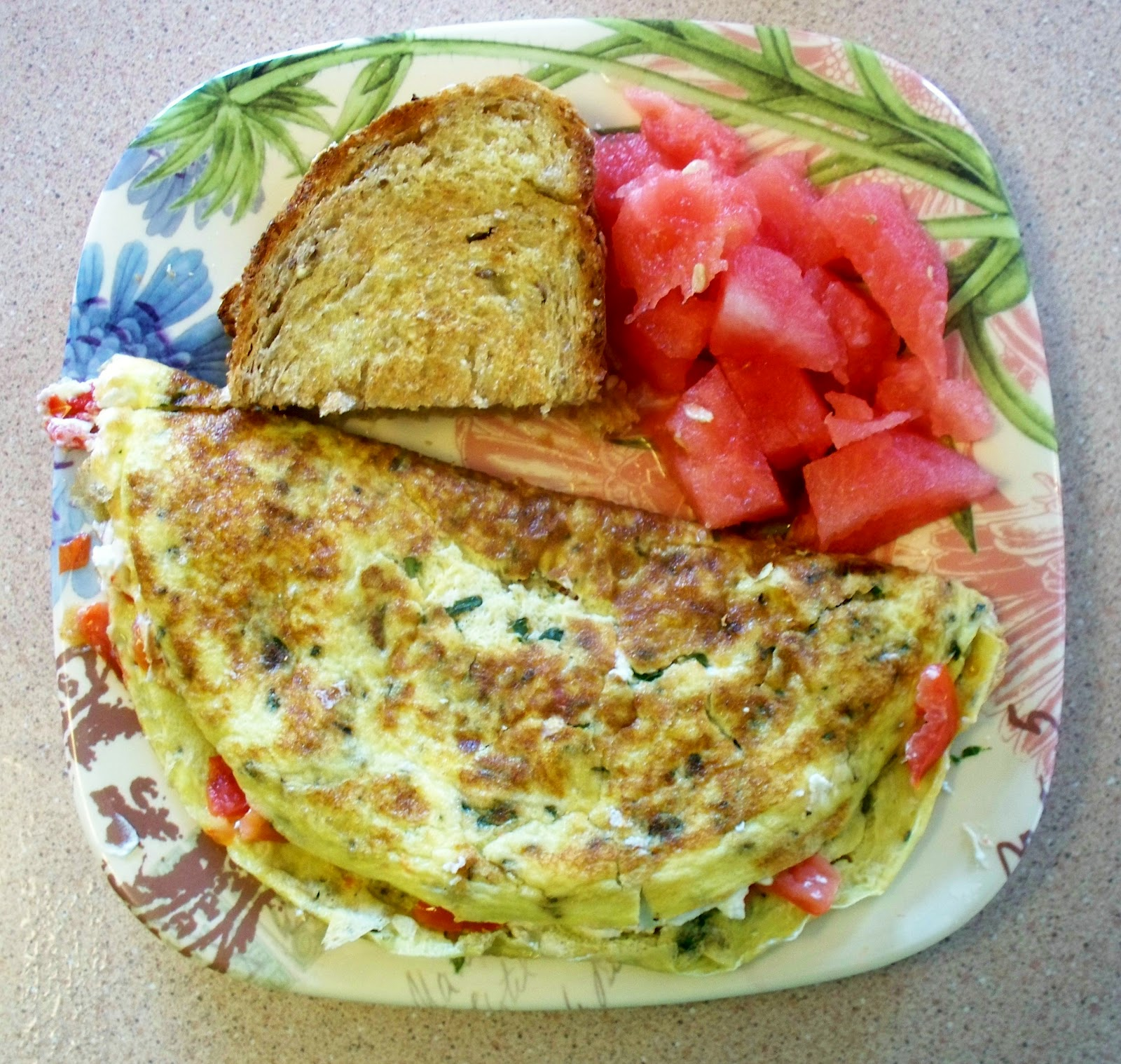 Fit and Lovin' it: Tomato Omelet with Goat Cheese and Herbs