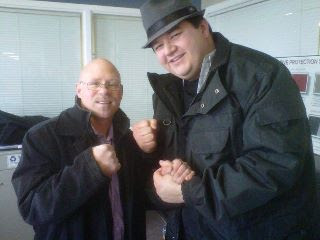 Meeting a local Boxing Legend