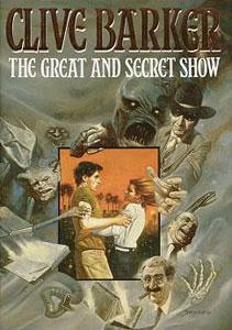 Portada original de El gran espectáculo secreto, de Clive Barker