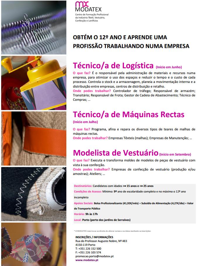 Cursos de aprendizagem com bolsa – Porto 2013
