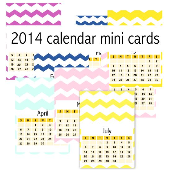 Chevron March Calendar 2014 Free printable 2014 chevron calendar cards ...