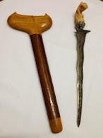 "Keris 31. Luk 7 BerPamor. Blade/Length: 11.5""/17.5""."
