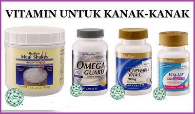 Set Vitamin Shaklee Untuk Kesihatan Kanak-Kanak